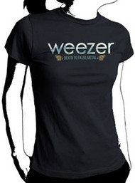 Weezer Death to False Metal Butterflies Juniors Tee Shirt