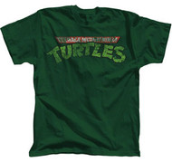 TEENAGE MUTANT NINJA TURTLES DISTRESSED LOGO MENS TEE SHIRT
