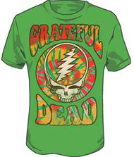Grateful Dead Green Groovy Mens T Shirt