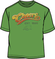 Cheers Logo Green Mens Tee Shirt