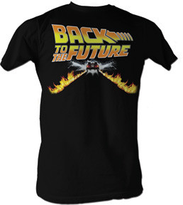 Back to the Future Flame Car Mens Tee Shirt
