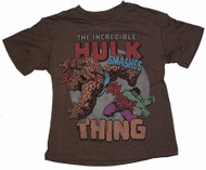 Hulk Vs. The Thing Boys T-Shirt by Junk Food Clothing