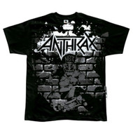 Anthrax Hittin the Bricks Mens Tee Shirt