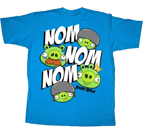 Angry Birds Nom Nom Mens Tee Shirt