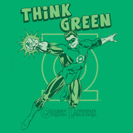 Green Lantern Think Green Mens T Shirt