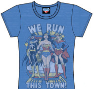 Super Heroes We Run This Town Womens Tee Shirt by Junk Food Clothing