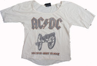 AC/DC Womens Tri Blend Slouch Raglan Shirt by Junk Food Clothing