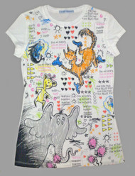 Dr Seuss All Over Print Juniors T Shirt