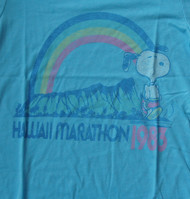 Snoopy Hawaii Marathon Womens Tee Shirt by Junk Food Clothing