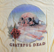 Grateful Dead Womens Weekend T Shirt by Junk Food Clothing in Vintage Yellow