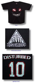 Disturbed Face Sox Button Down Baseball Jersey