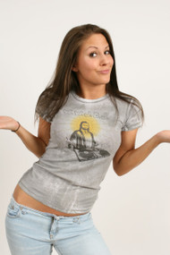 Mighty Fine What Would Jesus DJ WWJDJ Womens Tee Shirt
