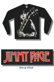 Jimmy Page Black and White Jumbo Print Long Sleeve T Shirt