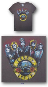 Guns N Roses Skeleton Parade Vinage Womens Tee Shirt