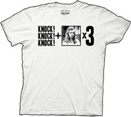 Big Bang Theory Knock Knock Knock + Penny x 3 Mens Tee Shirt