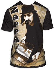 Frank Zappa Reel to Reel Subway Print Mens Tee Shirt