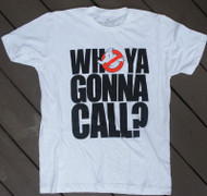 Ghostbusters Who Ya Gonna Call Mens Tee Shirt