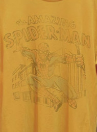 Mens Spider Man Originals Tee Shirt in Mustard by Junk Food Clothing
