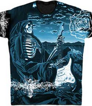 The Art of Gary Kroman Skeleton Dream Mens Photosheer Tee Shirt