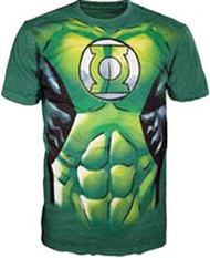 Green Lantern Uniform Mens Tee Shirt