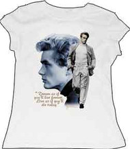 James Dean Walking Vintage Style Tee Shirt