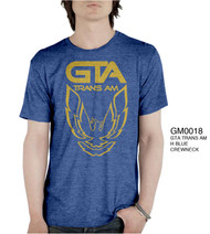 Vintage Style GTA Trans Am Blue Mens Tee Shirt