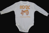 Rowdy Sprout AC/DC Long Sleeve Thermal Bodysuit