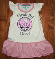Rowdy Sprout Grateful Dead I Love NY Ruffle Dress (Infant/Toddler)