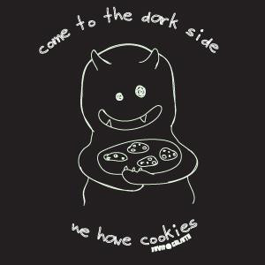 Come To The Dark Side Mens Vintage Style Tee Shirt