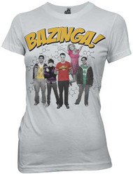The Big Bang Theory Bazinga Group Womens Tee Shirt