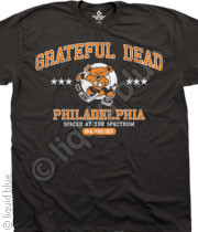 Spaced at the Spectrum Grateful Dead Philadelphia Hockey Bear T-Shirt