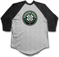 Flogging Molly Classic Shamrock Mens Baseball Jersey