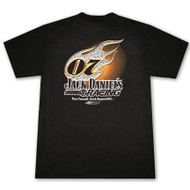 Jack Daniels Racing 07 Flame Black Graphic T-Shirt
