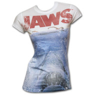 Jaws Ocean Lightweight Juniors Graphic T-Shirt