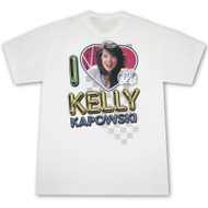 Saved By The Bell I Love Kelly Kapowski Mens White Graphic Tee Shirt