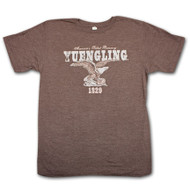 Yuengling Eagle America's Oldest Brewery Graphic Heather Brown Tee Shirt