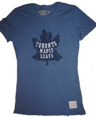 Vintage NHL Toronto Maple Leafs Ladies Crew T-Shirt in Blue