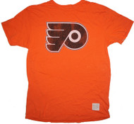 Vintage NHL Philadelphia Flyers Mens Orange Crew T Shirt