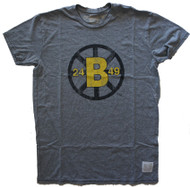 Vintage NHL Boston Bruins Mens T-Shirt in Streaky Gray