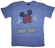Invisible Mickey Mouse Mens T-Shirt in Vintage Blue By Junk Food Clothing