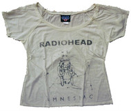 Radiohead Amnesiac Ladies Flirt T-Shirt By Junk Food Clothing