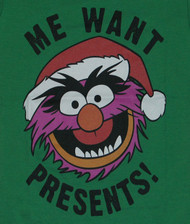 Me Want Presents Animal Muppets Ladies T Shirt
