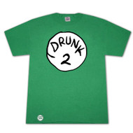 Dr. Seuss Inspired Drunk 2 Bottle Opener Green Graphic T Shirt