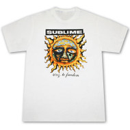 Sublime 40oz To Freedom White Graphic T Shirt