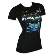 Sublime Koi Environment Black Juniors Graphic Tee Shirt