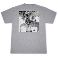 The Beatles Revolver Album Ash Grey Graphic Tee Shirt