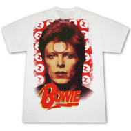 David Bowie Watch That Man White Graphic T Shirt