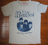 Junk Food Les Beatles Cant Buy Me Love Get Faded Ladies T-Shirt in Light Blue