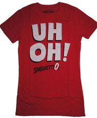 Mighty Fine Uh Oh Spaghettios Ladies T-Shirt
