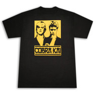 Karate Kid Cobra Kai Guys Black Graphic Tee Shirt